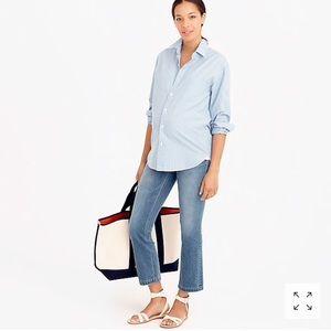 J crew maternity Billie semi-boot crop jeans
